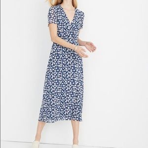 Madewell Wrap Front Floral Midi Dress Size 6